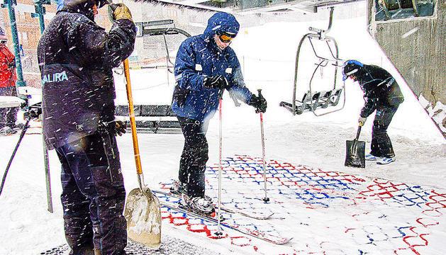 Treballadors de les pistes d'esquí.