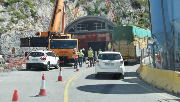 Les obres al túnel de Tres Ponts