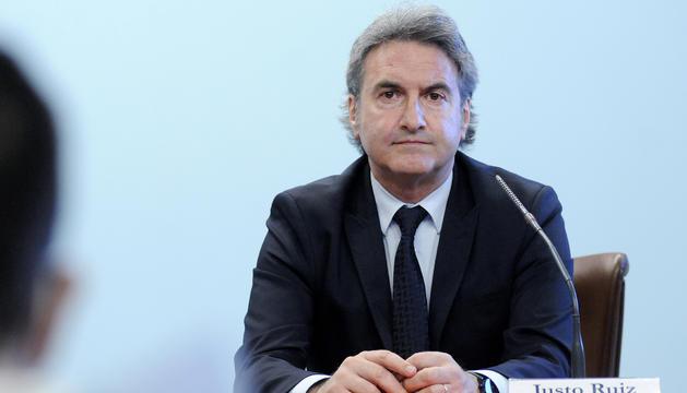 El secretari d'Estat d'Esports, Justo Ruiz, durant la roda de premsa d'avui