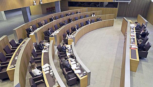 Una sessió del Consell General durant la Covid-19.
