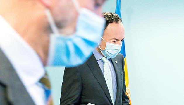 El cap de Govern, Xavier Espot, i el ministre de Salut, Joan Martínez Benazet, ahir.
