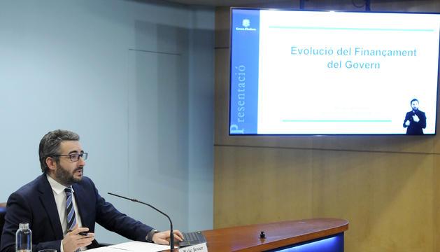 El ministre Eric Jover durant la roda de premsa