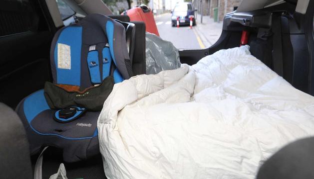 Cotxe on dorm Fabio