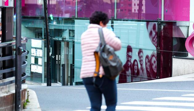 Les oficines d'Andorra Telecom a Andorra la Vella.
