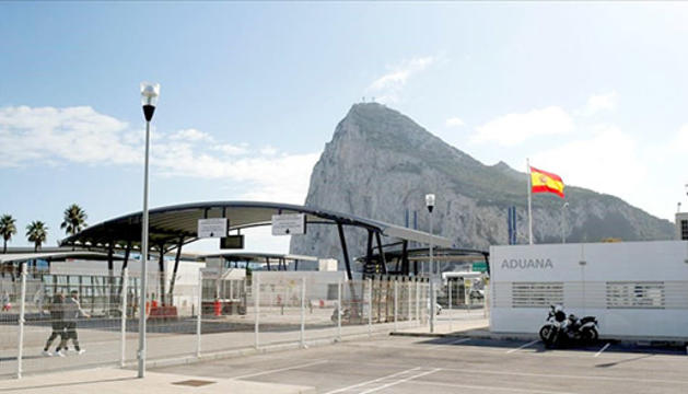 La frontera de Gibraltar.