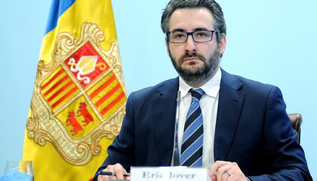 El ministre portaveu, Eric Jover, en roda de premsa.