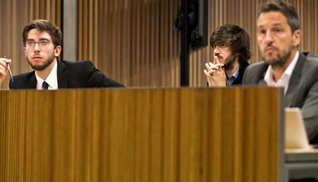 Els consellers Padreny, Enseñat i López en una comissió parlamentària.