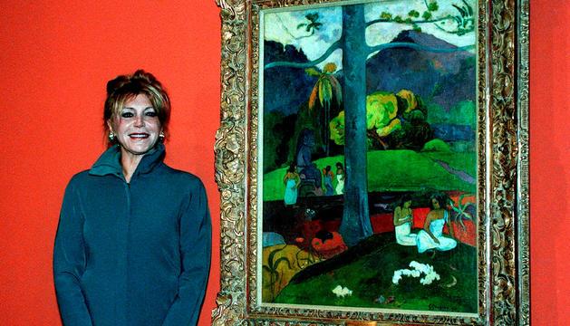 La baronessa Thyssen amb el 'Mata Mua'.