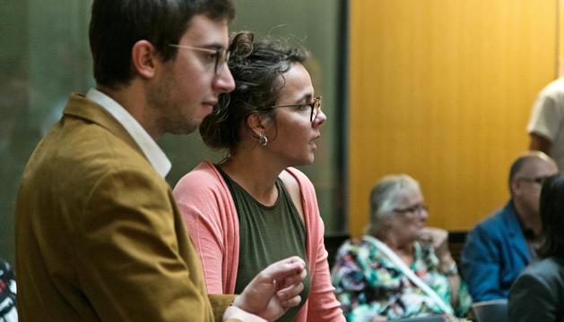 Els consellers del PS, Judith Salazar i Roger Padreny