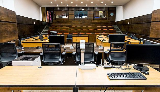 Sala de Prada Casadet, on ahir es va dur a terme el judici.