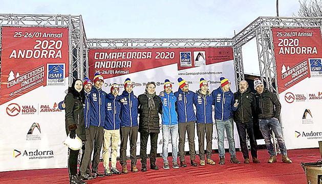 L'equip nacional a la Comapedrosa Andorra, al gener.