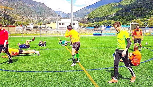 El Sant Julià, un dels equips que es van entrenar ahir.