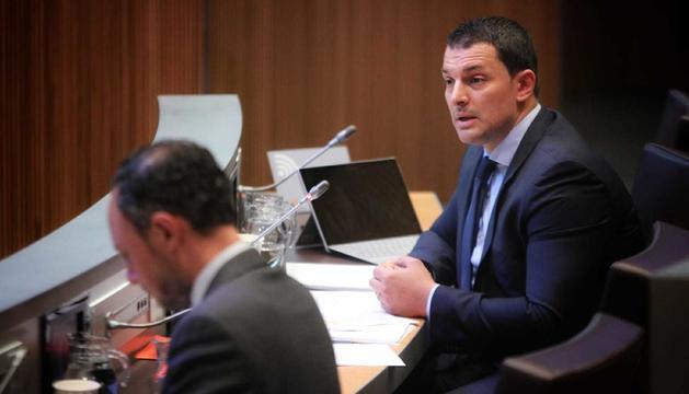 Jordi Gallardo, en la sessió del Consell General d'aquesta tarda