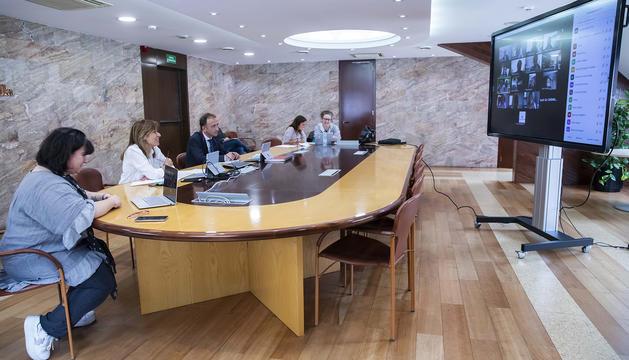 Marsol durant la reunió amb el Consell d'Infants
