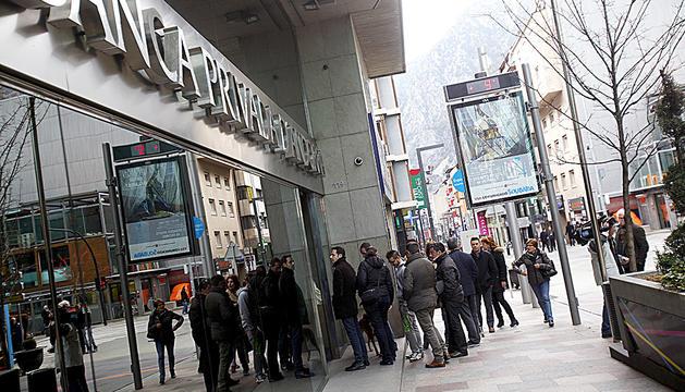 Seu de Banca Privada d'Andorra a l'avinguda Carlemany.
