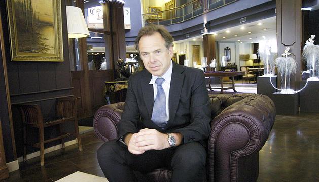 Eric Auderset quan era gestor dels hotels dels germans Cierco.