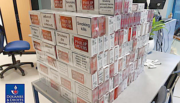 Part del tabac comissat provinent del Principat.