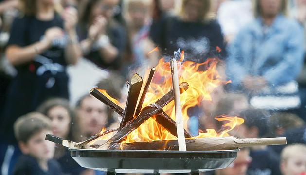 La flama del Canigó, l'any passat.
