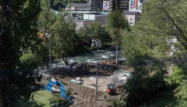 Platja de l riu Valira a Sant Julià
