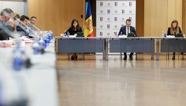 Els participants a la reunió