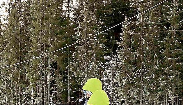 Axel Esteve es va tornar a posar els esquís, set mesos després.