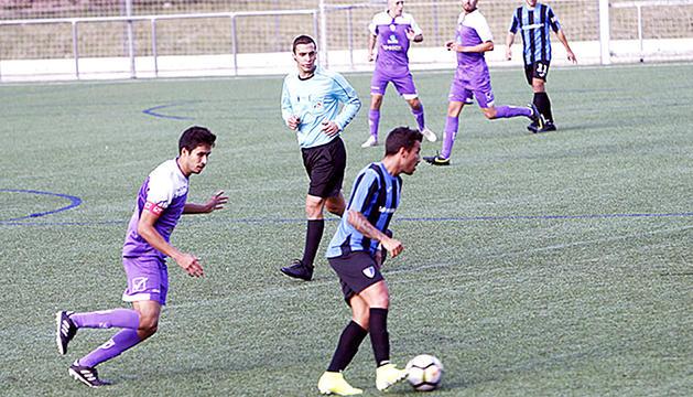 Un partit disputat aquesta temporada a la Borda Mateu.