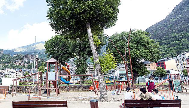 Un parc infantil d'Escaldes-Engordany.