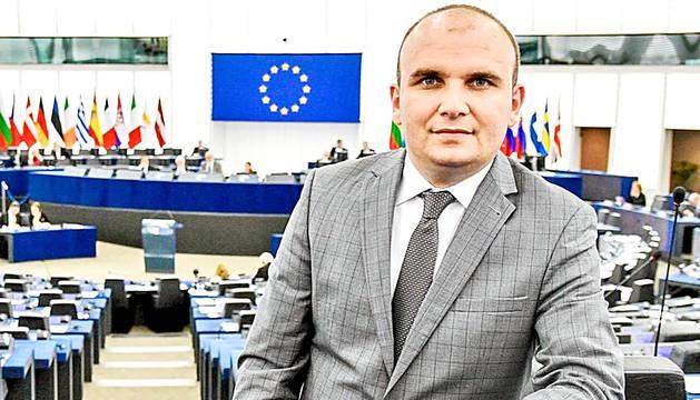 L'eurodiputat Ilhan Kyuchyuk a l'Europarlament.