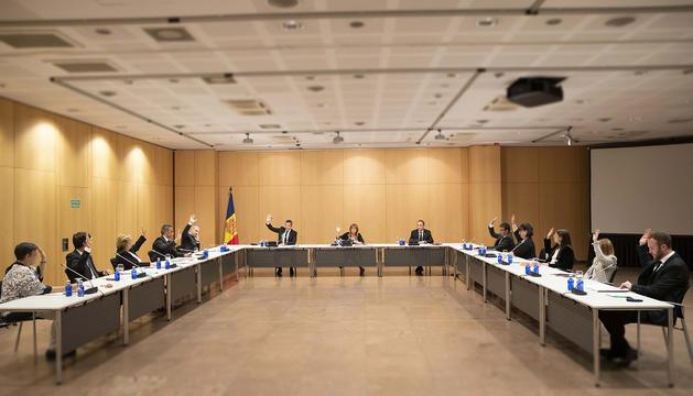 Un instant de la sessió del consell de comú d'Andorra la Vella d'aquesta tarda