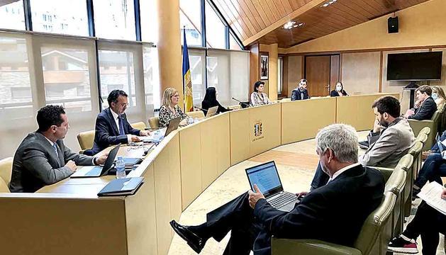 Els consellers durant la sessió del consell sabut.