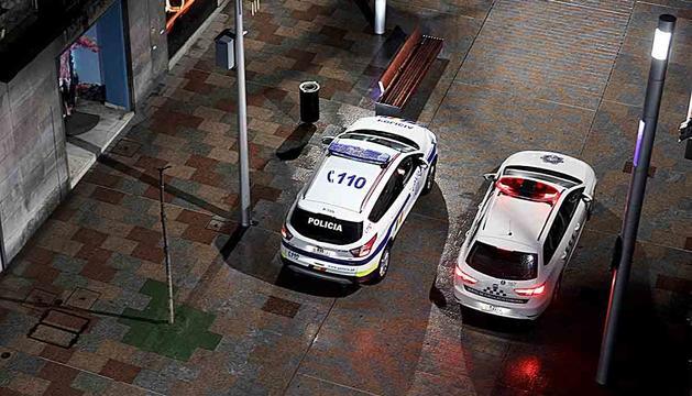 Dos vehicles del cos de policia.
