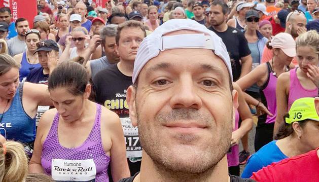 El capità de la selecció, Ilde Lima, a una mitja marató a Chicago.