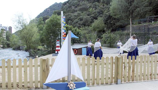 La Cala Laurediana ahir durant la inauguració.