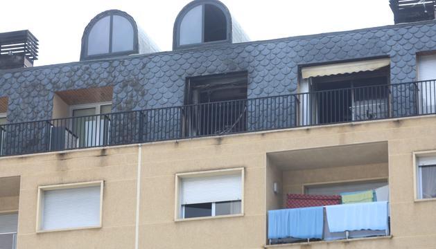 Estat de l'àtic de l'edifici del carrer Pompeu Fabra