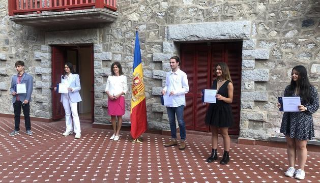 Els premiats en l'acte celebrat avui