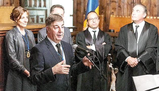 El president del CSJ, Enric Casadevall, en un acte.