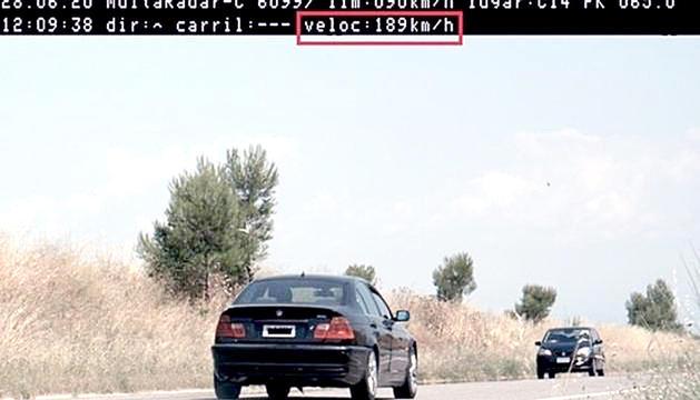 El vehicle que va ser enxampat pels mossos d'esquadra.