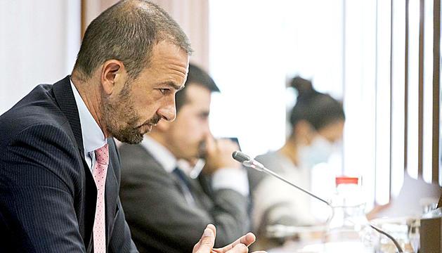 El ministre d'Ordenament Territorial, Jordi Torres, ahir.