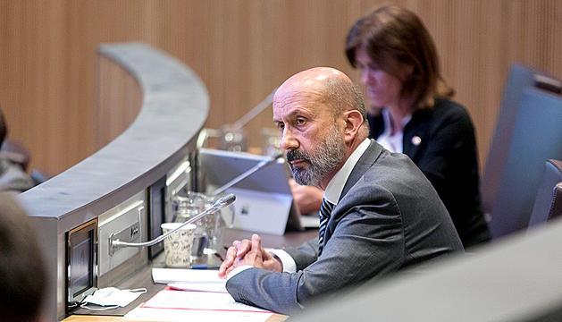 El ministre Joan Martínez Benazet al Consell General de dijous.