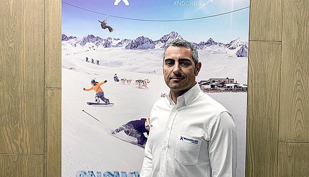 El director de màrqueting, David Ledesma, a les oficines de Grandvalira.