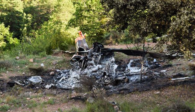 Dues persones moren en un accident d'helicòpter
