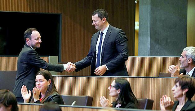 Gallardo felicita Espot per la seva elecció com a cap de Govern.
