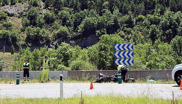 L'accident mortal a l'N-260 a l'altura de Pont de Bar, a l'Alt Urgell.