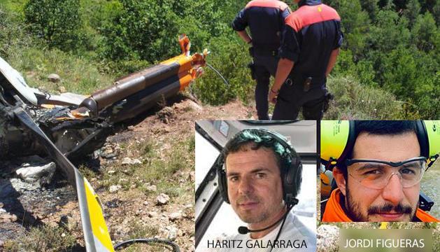 Haritz Galarraga accidentat en helicòpter