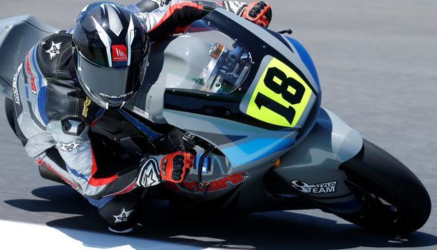 Xavi Cardelús, durant una de les dues curses d'avui.