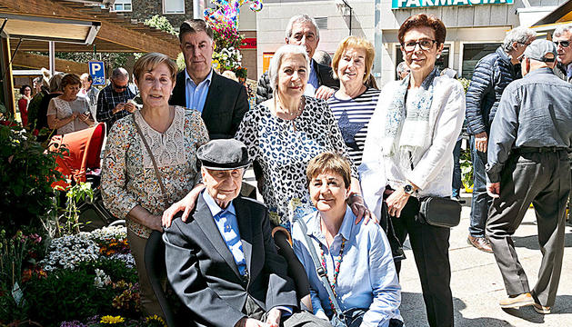 Jaume Casadevall amb la família.