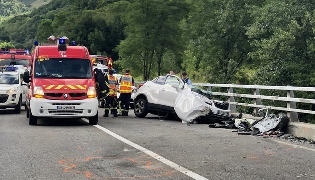 El vehicle accidentat ahir a la tarda a l'RN-20.