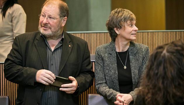 Els consellers generals del PS Jordi Font i Susanna Vela.