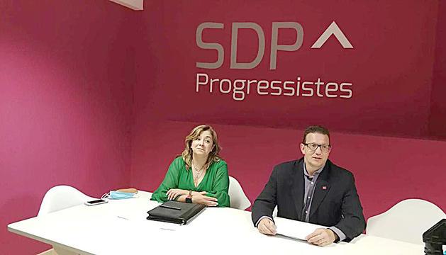 Zoppetti i Donsión en la roda de premsa.