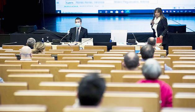 Una de les sessions del comú durant la pandèmia.